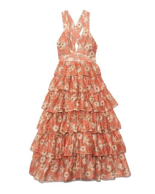 Ulla Johnson Orange Narcissa Gown In Petunia