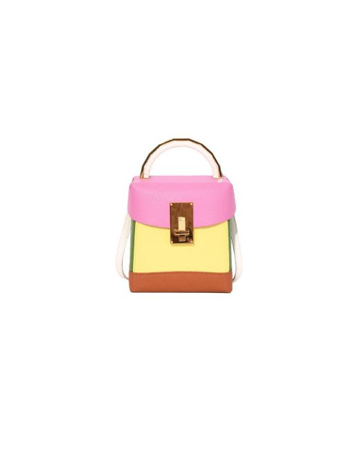 The Volon - Pink/yellow Box Basic Bag - Lyst
