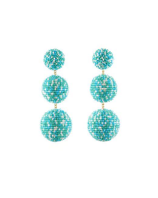 Rebecca de Ravenel | Blue Teal 'lara' Earrings | Lyst