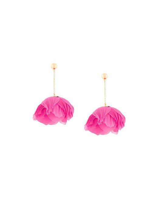 Aurelie Bidermann - Pink Pistil Pivoine Earrings - Lyst