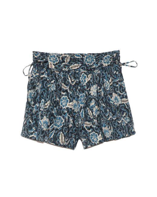 Ulla Johnson Blue Zev Shorts In Midnight