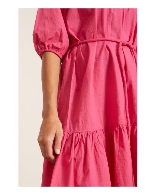 Apiece Apart Pink Emelian Mini Dress In Azalea