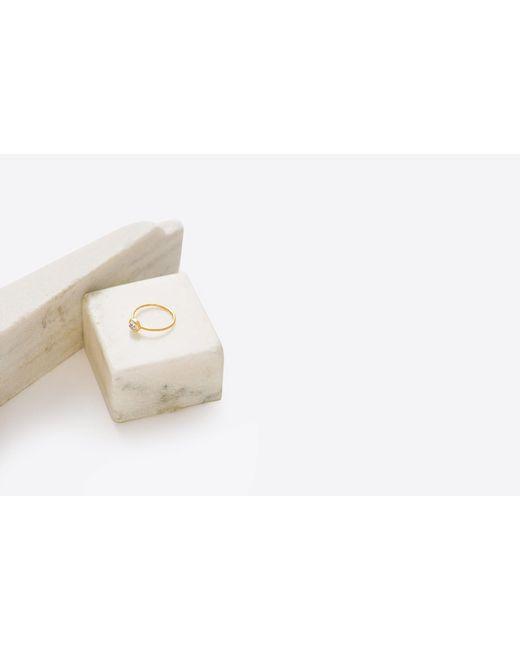 Grace Lee | Multicolor Rustic Clear Oval Diamond Bezel Ring | Lyst
