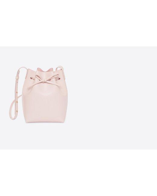 Women's Saffiano Mini Bucket Bag by Mansur Gavriel