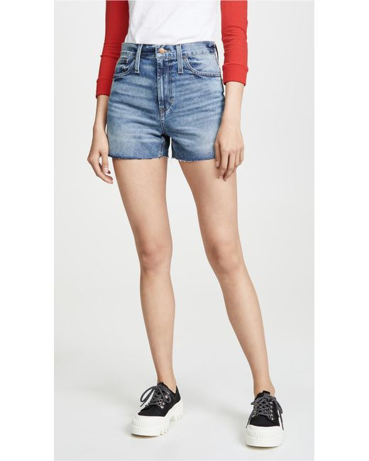 Madewell Blue Perfect Vintage Shorts