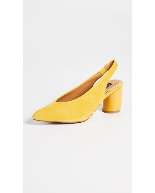 Jaggar - Yellow Tempt Curved Heel Pumps - Lyst