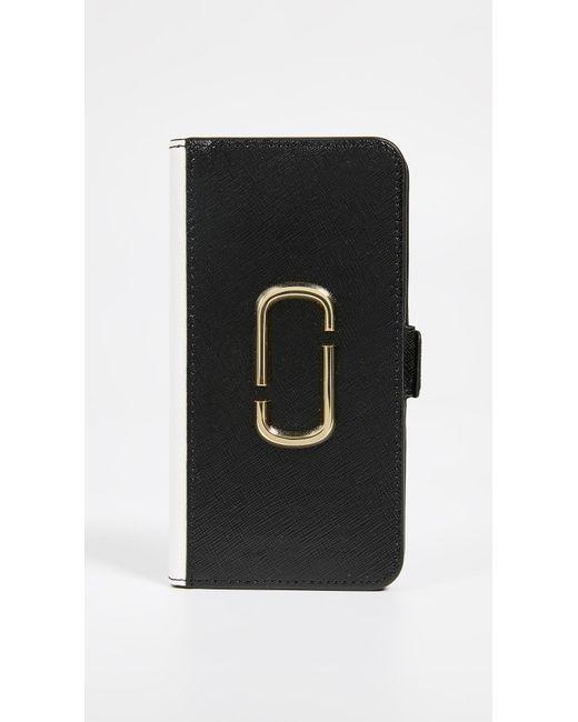 Marc Jacobs Black Double J Folio Iphone Xr Case