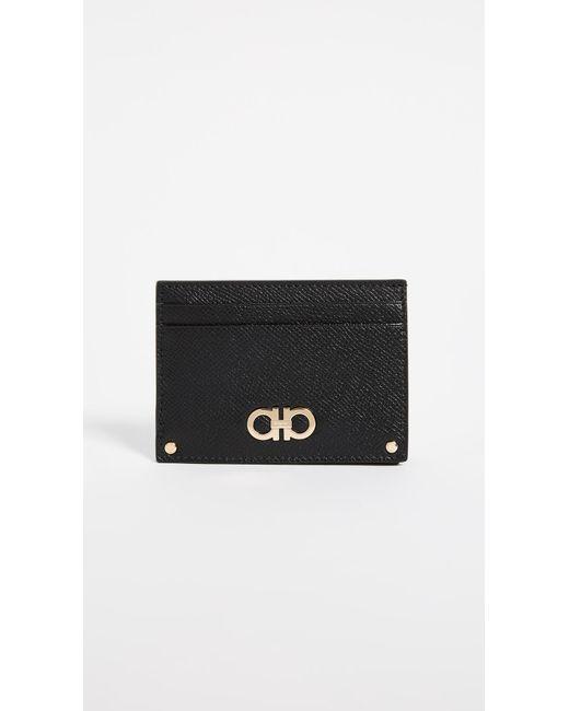 48e7b2b2af Ferragamo - Black Gancini Card Case - Lyst ...