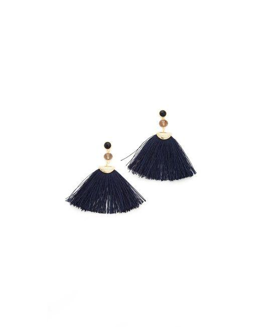 Shashi | Blue Mia Fan Tassel Earrings | Lyst