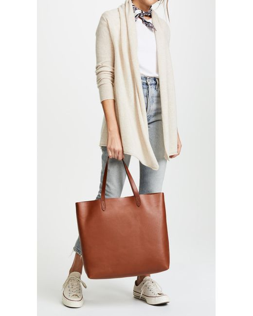 5dc4cccf2 ... Madewell - Brown Transport Tote - Lyst ...
