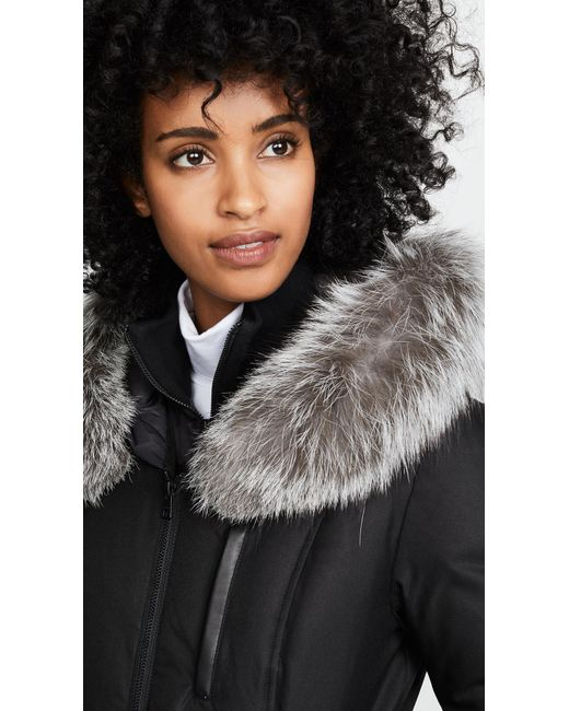 3736b5c5a13 Soia   Kyo Christy Brushed Down Coat in Black - Lyst