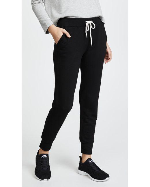 Monrow - Black Sporty Sweatpants - Lyst