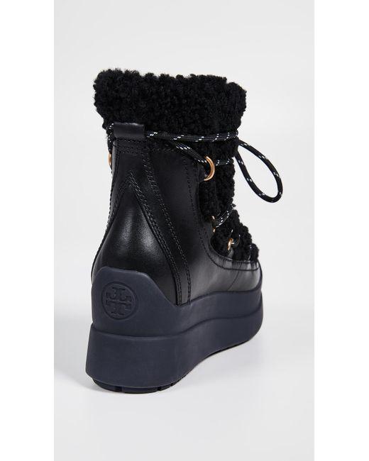 99bde0bb5 ... Tory Burch - Black Courtney Shearling Boots - Lyst ...