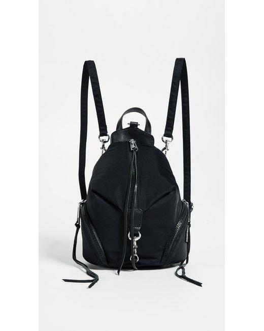 Rebecca Minkoff - Black Nylon Mini Julian Backpack - Lyst