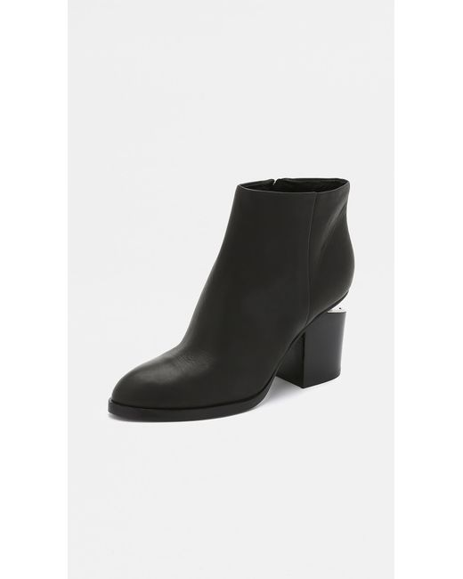 Alexander Wang Natural Gabi Leather Silver-Cutout Ankle Boots