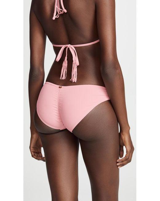 7872803fa9 ... Pilyq - Pink Riviera Basic Ruched Full Bikini Bottoms - Lyst ...
