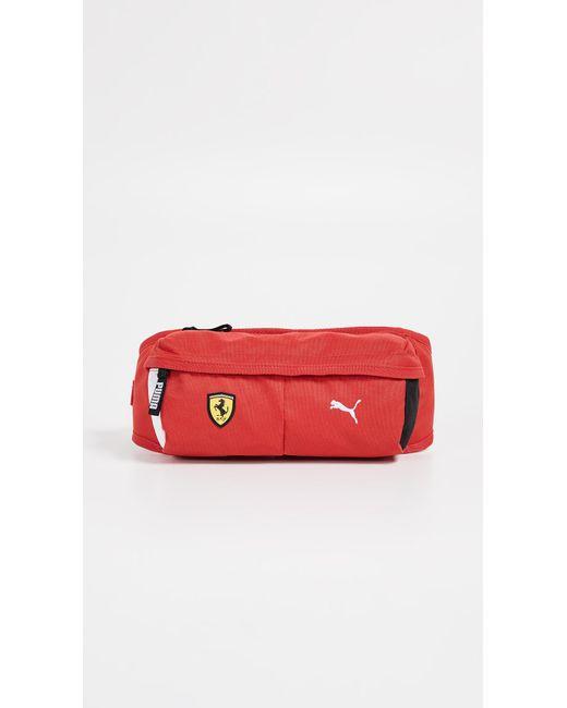 ... PUMA - Red Fanwear Waist Bag - Lyst ... 8c8973820a637
