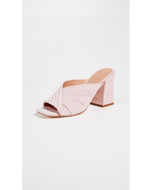 Sigerson Morrison - Pink Pramod Block Heel Sandals - Lyst