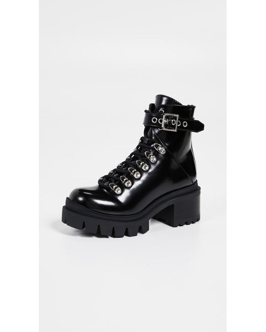 Jeffrey Campbell Black Czech Combat Boots
