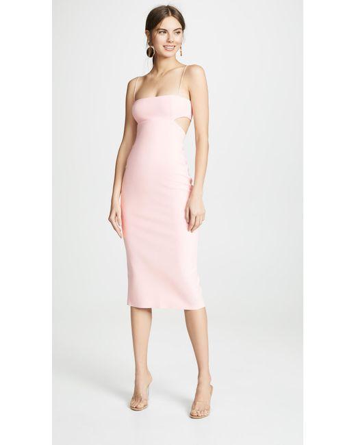 258ce32f47 Bec & Bridge Elle Cutout Midi Dress in Pink - Lyst