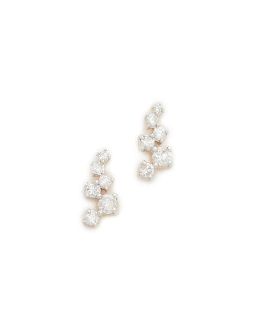 Adina Reyter - Metallic Scattered Diamond Stud Earrings - Lyst
