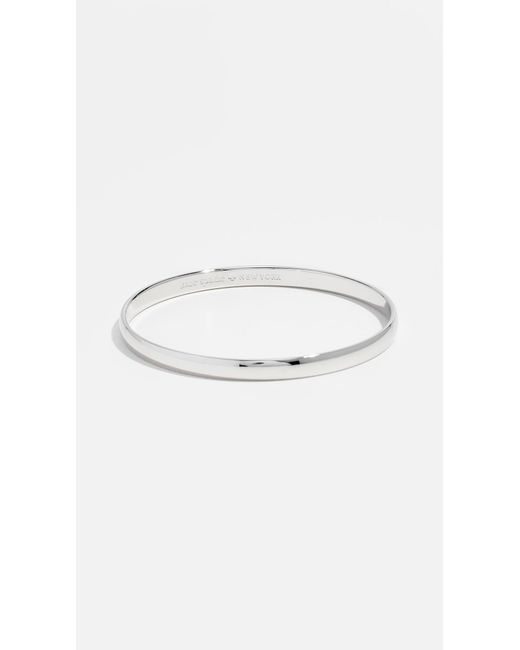 Kate Spade Metallic Find The Silver Lining Idiom Bangle