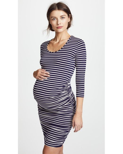 d252cae7d931c Ingrid & Isabel Striped Maternity Dress in Blue - Lyst