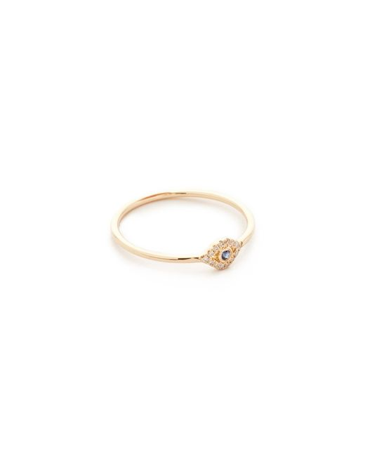 Sydney Evan - Metallic Small Evil Eye Ring - Lyst