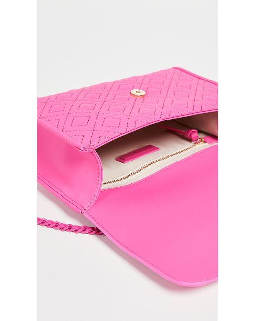 2ed8fc9b9df5 ... Tory Burch - Pink Fleming Matte Small Convertible Shoulder Bag - Lyst  ...