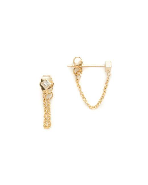 Zoe Chicco - Metallic Princess Diamonds Chain Earrings - Lyst