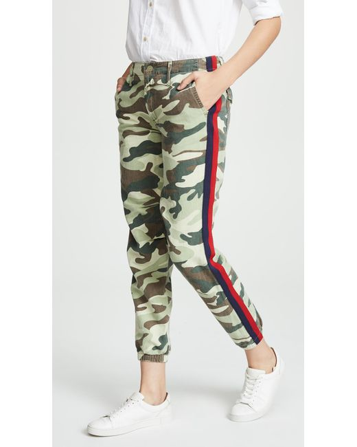 Mother - Green The No Zip Misfit Pants - Lyst