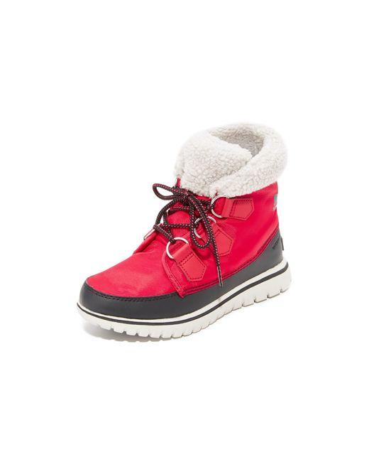 Sorel   Red Cozy Carnival Booties   Lyst