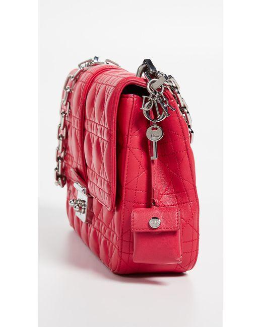 9d4c530910c2 ... What Goes Around Comes Around - Dior Pink Lambskin Miss Dior Medium Bag  - Lyst ...