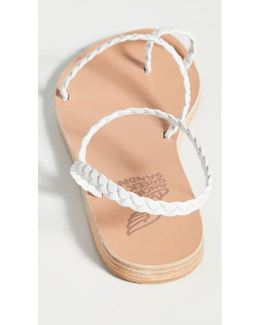 Ancient Greek Sandals White Eleftheria Sandals