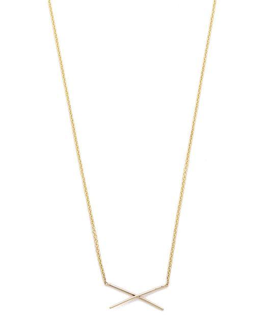 Gabriela Artigas | Metallic X Necklace | Lyst