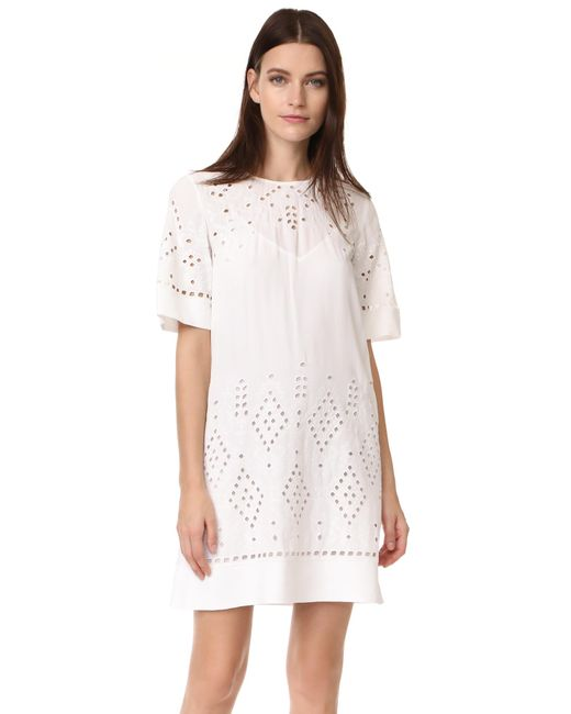 Theory   White Idetteah Dress   Lyst