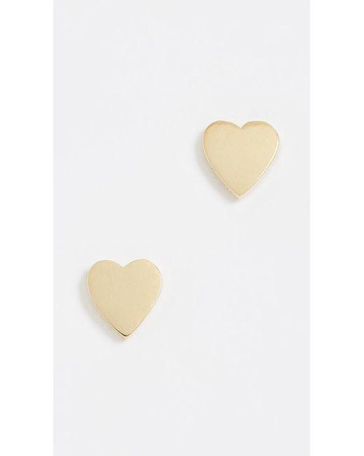 Jennifer Meyer - Metallic Heart Stud Earrings - Lyst