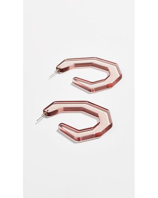 Rachel Comey Pink Baby Factor Earrings