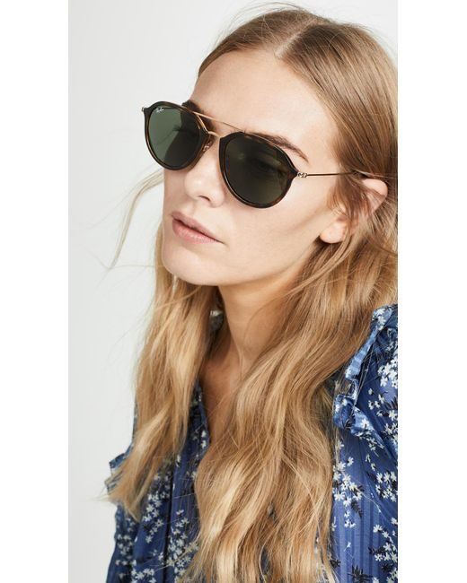 Ray-Ban Green Rb4253 Highstreet Aviator Sunglasses
