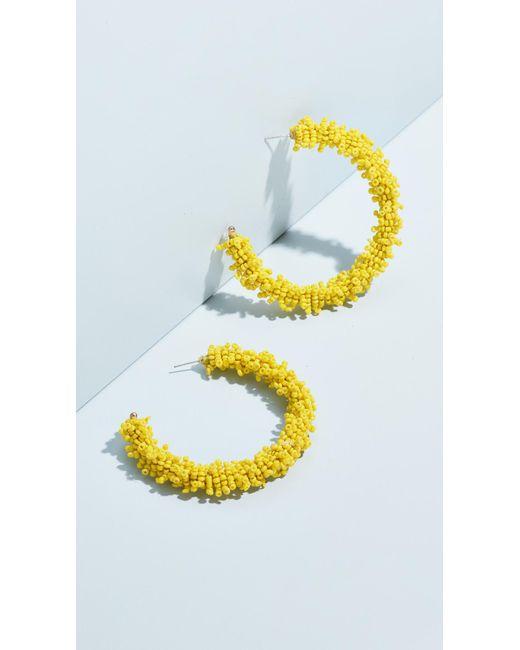 BaubleBar - Multicolor Large Beaded Hoop Earrings - Lyst