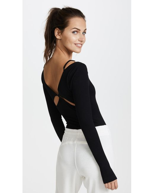 Free People | Black Movement Everyday Practice Leotard | Lyst