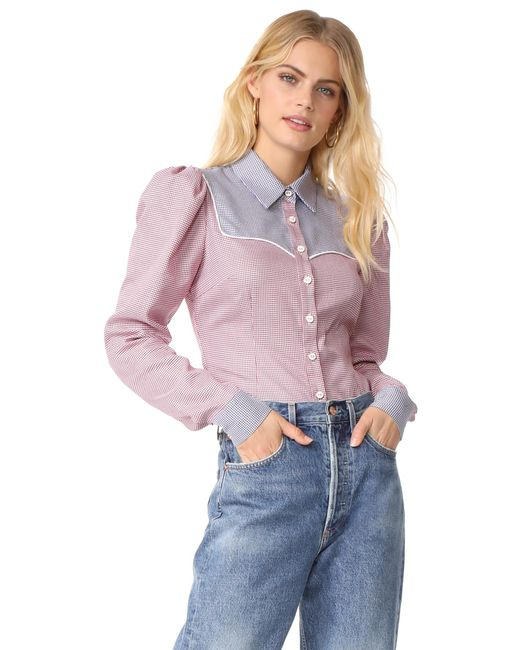 Caroline Constas   Multicolor Clementine Shirt   Lyst