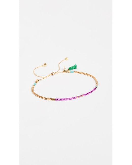 Shashi | Green Sam Chain Slide Bracelet | Lyst