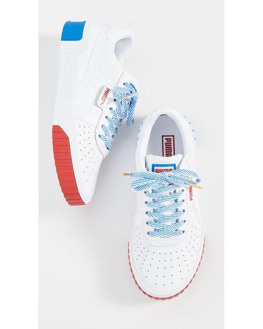 88fa3f6657b PUMA - Blue Cali Rwb Sneakers - Lyst ...