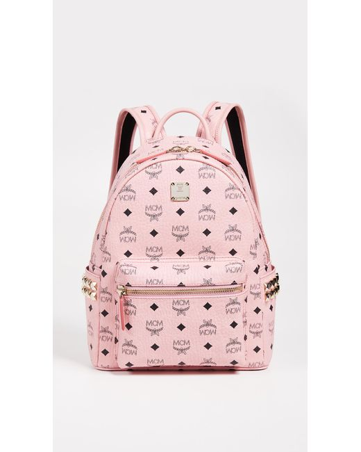 MCM - Pink Small Stark Backpack - Lyst