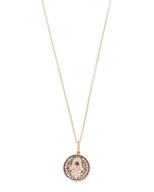 Sydney Evan | Metallic Small Hamsa Medallion Charom Necklace | Lyst