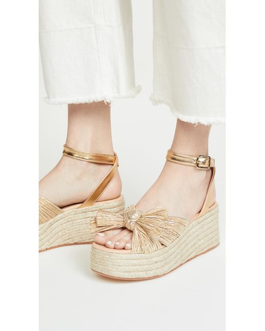 a7120111dc2 Women's Metallic Posey Pleated Knot Flatform Esapdrilles