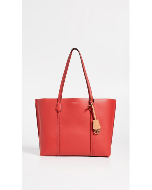 b38a84a38e Tory Burch - Red Perry Triple-compartment Tote - Lyst ...