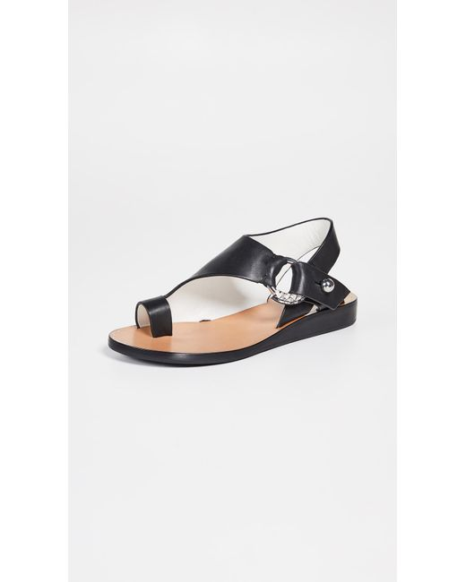 78a116d6943 Women's Black Arc Flat Sandals