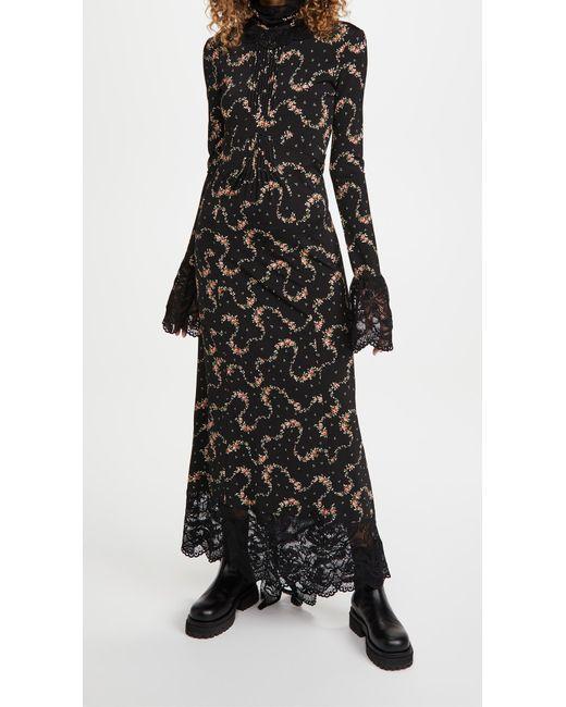 Paco Rabanne Black Long Sleeve Dress